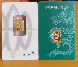 emas batangan dari logam mulia King Halim